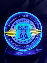 Route 66 Neon Werbung Hintergrund Schild Reklame US-Diner Interstate 66