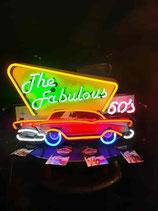 The Fabulous 50`s  Neon Reklame Werbung US Leuchtschild Eyecatcher.