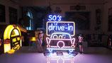 USA Neon 50´s Drive in Leuchtschild Licht Reklame Amerika Auto-Kino