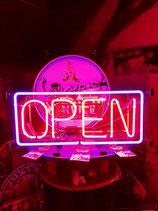 Open Neon Werbung XL Licht Schild US-Sign Reklame Offen/Schild Eyecatcher