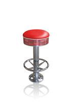1 Diner-Barhocker BS-27 (Fußstütze) rot