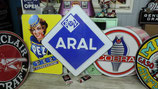 Aral XXL Deko Alu-Schild Tankstelle Benzin Garage Werkstatt Deko Nostalgie