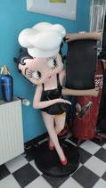 Betty Boop mit Menükarte Original  Figur