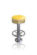 1 Diner-Barhocker BS-27 (Fußstütze) gelb