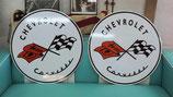 Chevrolet Corvette Schild (rund)