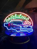 The Fabulous 50`s  Neon Reklame Werbung US Diner Retro Leuchtschild