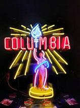 Neon Werbung Columbia Neonreklame Kino Film Leuchtschild TV Werbung