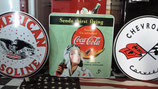 Coca Cola Pilotin Alu-Schild