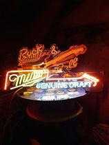 Miller Gitarre USA Neon Licht Gastro Bier Werbung Amerika Kult Neonreklame