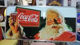 Weihnachtsmann trinkt Coca Cola