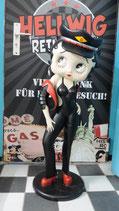 Betty Boop Original Figur in schwarz Motorrad Deko Skulptur Bikerin Statue