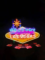 Neonreklame Schild Welcome Las Vegas Neon Werbung Nevada Licht Partyraum