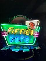Fifties Cafe Neon USA Leuchtwerbung Reklame Gastronomie Licht Werbung