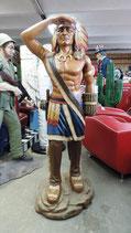 Tabak Indianer Häuptling GFK Resin Figur Skulptur Statue Eyecatcher