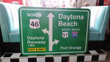 Daytona Beach Interstate/Highway Schild Dekoration Halle Autohaus Bike Shop