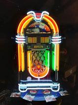 Wurlitzer Black Onyx Neon Jukebox Leuchtschild mit Hintergrund/Schild