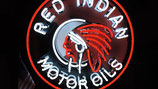 Red Indian Motor Oils Neon