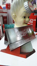 "Coca-Cola Metal Sign ""Reserviert"" verchromt"