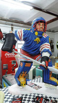 Ice-Hockey Player GFK Figur Statue Spieler Skulptur Sports Bar Deko