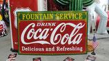 Coca Cola Riesiges Emailleschild