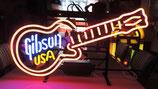 Gibson Gitarre USA Neon Geschäft Reklame Licht Musik Shop Werbung