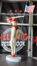 Pin Up Girl US-Flagge  GFK Figur American Flagg Amerika Skulptur Statue
