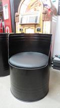 1 Ölfass-Sessel 1 Ölfass-Sessel Schwarz ohne Rückenlehne Wartezeit 2-3 Wochen
