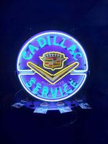 Cadillac Neon Werbung Service Schild Reklame US Werbeschild Ami-Garage