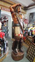 Indianer-Häuptling groß komplett aus Holz Deko Westernstadt Country Saloon