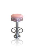 1 Diner-Barhocker BS-27 (Fußstütze) rosa