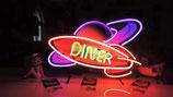 Diner Rocket USA Neon Licht Werbung Rakete Amerika Gastro Leuchtreklame