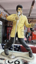 Elvis mit Mikro -  GFK Figur