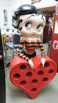 Betty Boop Herz/Weinregal Original  Figur