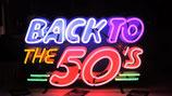Back to the 50`s  Neon Werbung Leuchtschild Reklame US Neon Licht