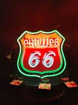 Phillips 66 Leuchtschild Reklame Werbung US Neon Amerika Deko Licht