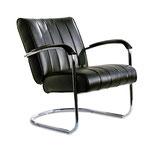 1 Diner Lounge Sessel LC-01 LTD (schwarz) Einfarbig