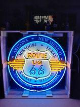 Route 66 Neon Werbung Riesiges 1 Meter großes USA Schild Reklame Interstate 66