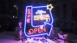 Retro Diner Cafe Open Neon