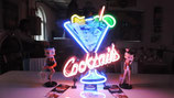 Cocktails with Ice-Cub Neon