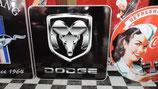 Dodge Schild Logo Alumium-Schild Wetterfest mit Schutzrahmen.