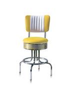1 Diner-Barhocker BS-28-66CB yellow