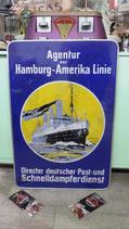 Agentur der Hamburg-Amerika Linie Alumium XL Schild Nostalgie Dekoration