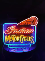 Indian Motorcycles USA-Neon Gastro Leuchtschild Motorrad Shop Reklame