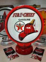 Texaco Fire-Chief Globes Amerika Deko Auto Halle US-Cars Feuerwehr Helm