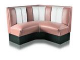 1 Diner-Eckbank HW-120/120 rosa