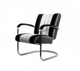 1 Diner Lounge Sessel LC-01 (schwarz)