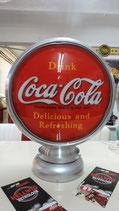 Coca Cola Aluminium-Globe/Lampe Sehr hochwertige Lampe aus Metall.