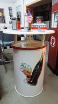 Coca-Cola Stehtisch Tonne/Fass (weiss)