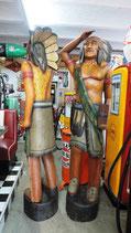 Indianer lebensgroß komplett aus Holz Dekoration Country Western Saloon