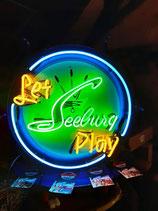 Seeburg Neon Jukebox Musikbox Retro Werbung Hintergrund Dekoration Licht